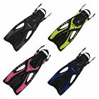 Pace Snorkeling Fins by Promate, Release Buttons, Jet Vented, SCUBA Dive Swim
