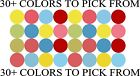 "1"" INCH POLKA DOTS VINYL STICKERS WALL DECOR"