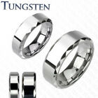 Tungsten Carbide Ring Polished Finish Prism Edge Size 5,6,7,8,9,10,11,12,13(f60)