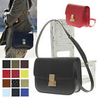 Women's Handbag Real Italy Calf Leather Medium CLASSIC BOX Shoulder Bag Purses