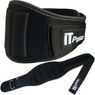 weight lifting belt gym exercise back support training ventilated black (464)