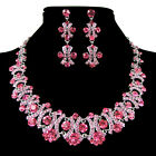 7 Colors Fashion Crystal Rhinestone Party Earring Necklace Jewelry Set Hot