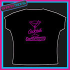 HEN PARTY TOP TSHIRT COCKTAILS LADIES PERSONALISED