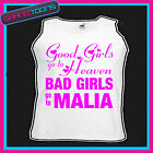 BAD GIRLS GO TO MALIA  HEN PARTY HOLIDAY VEST TOP