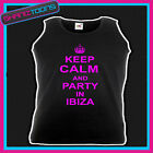 KEEP CALM AND PARTY IN IBIZA HOLIDAY CLUBBING HEN PARTY UNISEX VEST TOP