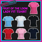 LADIES WOMENS LADY FIT TSHIRT FRUIT OF THE LOOM BRAND