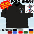 PERSONALISED EMBROIDERED BARBER HAIRDRESSER UNIFORM WORKWEAR T POLO SHIRT