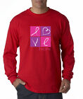 Breast Cancer Awareness Love Hope Pink Ribbon Panels Long Sleeve Tee Shirt