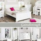Gainsborough White Bedroom Furniture, Bedside Cabinets,Chest of Drawers,Wardrobe