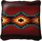 Southwest Southwestern Esme Geometric Pattern Woven Art Tapestry Pillow