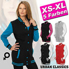 URBAN CLASSICS ► LADIES DAMEN 2-TONE LONG COLLEGE SWEAT JACKE OLDSCHOOL BLAZER