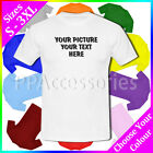 Personalised Customised Your Picture Your Text Mens Cotton T-Shirt