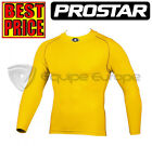NEW YELLOW PROSTAR GEO-T LONGSLEEVE BASE LAYER TOP JUNIOR £15.99 SENIOR £17.99