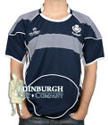 SCOTLAND RUGBY SHIRT..SHORT SLEEVE CREW NECK..NAVY (HOME)..SIZES XS TO 2XL!