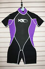 X2O Ladies Wetsuit 3mm Womens Spring Short Sleeve Surf Shorty Suit Purple 3x2