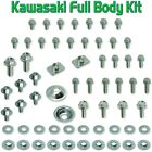 64PC BODY BOLT KIT KAWASAKI KX 60 65 80 85 125 250 500 Plastics f&r fenders Seat