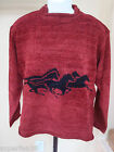 Unisex sweaters chenille/cotton reindeer buffalo horses TRUE GRIT MADE IN USA