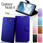 Shiny Wallet Leather Case Cover For Samsung N7100 Galaxy Note II + Film