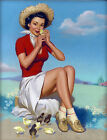 A Cute Little Chick - Retro Pin-Ups on Canvas
