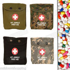 "Canvas Snap Pouch Jungle First Aid Kit - Belt Hooks/Loops, 6"" x 5"" x 1.25"""
