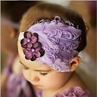 Cute Feather Flower Diamond Infant Baby Toddler Soft Headband Headwear Hair Band