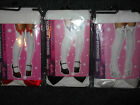 Ladies White Hold Up Stockings with Red, White or Black Satin Bow Fancy Dress