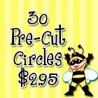 Pre-Cut 1 Inch Circle - Football Sports Team of Your Choice $2.95 USD on eBay