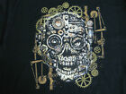STEAM PUNK MECHANICAL SKULL GEARS LONG SLEEVE T SHIRT BIKER HOT ROD