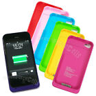 New Color 1900mAh External Backup Power Battery Charger Case For IPhone 4 4S LOT
