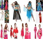 ARABIAN NIGHTS HAREM BELLY DANCER GENIE PRINCESS JASMINE ALADIN COSTUME