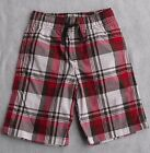 NWT Boy's Shorts Gymboree Dino Mighty Red Madras Plaid Pull-on