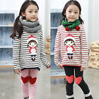 New Kids Toddlers Girls Lovely Top Shirt And Leggings Pants Age 2-7Y Outfit/Sets