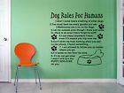 Dog Rules For Humans Giant Wall Art Quote Decal Mural Stickers Animal WA350