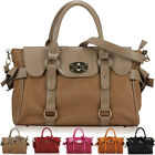 Ladies Womens Designer Leather Style Satchel Tote Laptop Bag Breifcase Handbag
