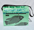Fair Trade Recycled Deluxe Ex Large Messenger Bags made from Fish Feed Bags