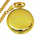 Father Of The Groom Engraved Pocket Watch Personalised Wedding Favour Present