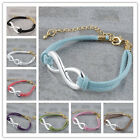 Wholesale Infinity Silver Plated Connector Handmade Bracelet Adjustble