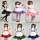 Sexy Japan SS Cosplay party Fancy Dress Uniform Ruffle Lolita Maid Outfit 8-14