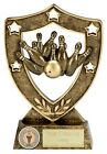 TEN PIN BOWLING SKITTLES TROPHY RESIN AWARD 2 SIZES AVAILABLE ENGRAVED FREE