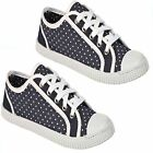 LADIES CANVAS SHOES GIRLS RETRO LACE UP WOMENS PUMPS PLIMSOLES TRAINERS SHOES !