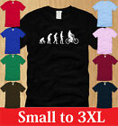 EVOLUTION IN BICYCLE LADIES T-SHIRT S M L XL bike bmx extreme sports women tee