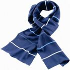 Serious Orson Mens Scarf Black or Grey Striped