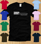 THINKING .. PLEASE BE PATIENT - MENS T-SHIRT SMALL funny sarcastic nerdy tee S
