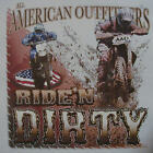 ALL AMERICAN OUTFITTERS RIDE'N DIRTY MOTORCROSS DIRT BIKE SHIRT #365
