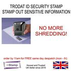 SECURITY / ID PROTECTION / HIDE RUBBER STAMP SELF INKING NO MORE SHREDDING