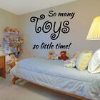 SO MANY TOYS quote wall decal for kids bedroom playroom wall stickers