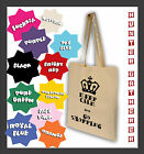 KEEP CALM AND GO SHOPPING Cotton Canvas Shopping Bag, GREAT GIFT, LOTS COLOURS