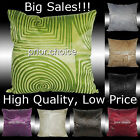 2X SQUARE CIRCLE NOVELTY SOFT VELVET CUSHION COVERS 17""