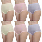 6 Pack Of Womens/Ladies Underwear Full Size Maxi Breifs With Embroidery