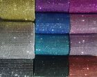 1/2 m Dimante Diamond Style Mesh Gold Silver Black Purple Blue Cerise Pink Red